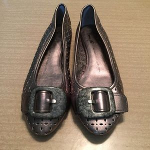 Franco Sarto Metallic Gray Flats Archer Size 7M